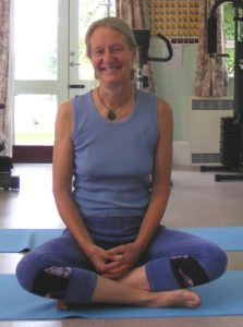 Laura Potts teaches yoga to students with mental health conditions