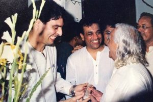 Zubin with Guruji