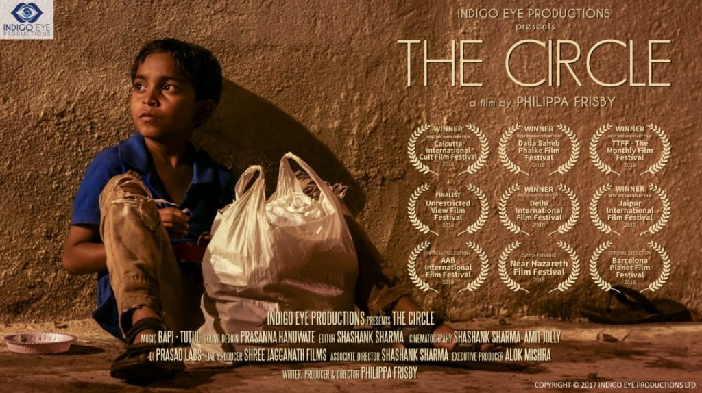 poster for The Circle film showing awards